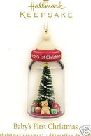 2008 HALLMARK BABY'S FIRST CHRISTMAS~Baby Bottle Ornament