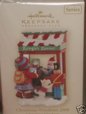 Hallmark CHRISTMAS WINDOW 2008~Club Ornament~Kringle's Korner~#6