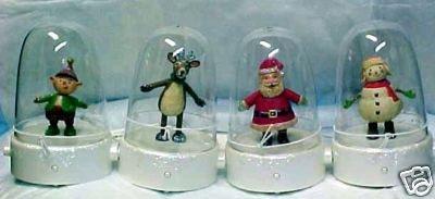 2008 Hallmark 4 HAPPY TAPPERS~Reindeer~Elf~Santa~Snowman~Songs & Dance~Complete Set of 4