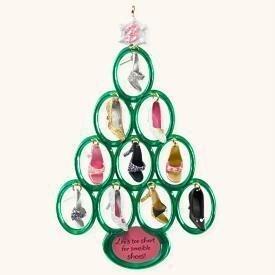 2008 BARBIE SHOE TREE Christmas Ornament