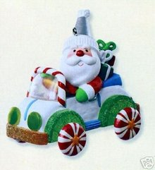 2007 Hallmark SANTA'S SWEET RIDE~1st Series Christmas Ornament~Lights Up