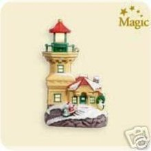 2007 Hallmark LIGHTHOUSE GREETINGS Christmas Ornament~11th~Lights Up