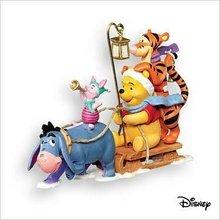 2007 Hallmark OH, WHAT FUN! Christmas Ornament~Pooh~Tigger~Eeyore~Piglet~DISNEY