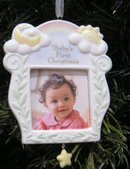 2008 Hallmark BABY'S FIRST CHRISTMAS Photo Holder Ornament