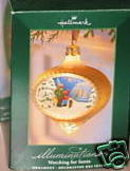 HALLMARK ILLUMINATIONS~WATCHING FOR SANTA~Christmas Ornament