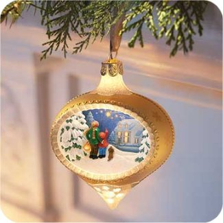 HALLMARK ILLUMINATIONS~WATCHING FOR SANTA~Christmas Ornament