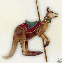 2008 Hallmark HAPPY KANGAROO Christmas Ornament~Carousel Ride Series