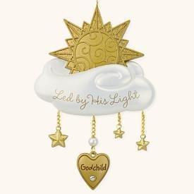 2008 Hallmark GODCHILD Christmas Ornament