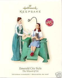 2008 Hallmark EMERALD CITY STYLE~Wizard of Oz Christmas Ornament