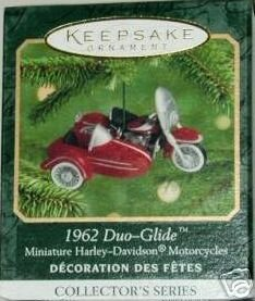 1962 Duo-Glide~Harley-Davidson Hallmark 2000 Mini Motorcycle Christmas Ornament