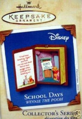 2002 Hallmark~Winnie the Pooh Books Ornament Series~School Days~Christmas Ornament