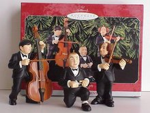 THE THREE STOOGES~Hallmark 1998 Christmas Ornaments~Set of 3~Larry,Moe&Curly~Orchestra