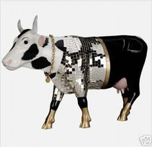 Cow Parade~DISCO COW~Resin Figurine
