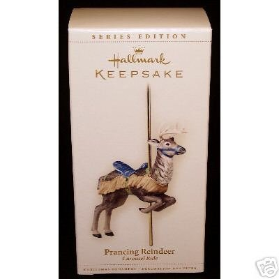 2006 Hallmark PRANCING REINDEER~Carousel Ride Christmas Ornament Series #3
