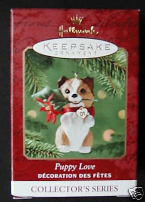 2001 Hallmark PUPPY LOVE Sheltie Dog~#11 Christmas Ornament