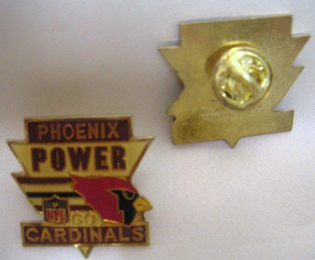 Vintage NFL CARDINALS 1988 Football Pin~Phoenix