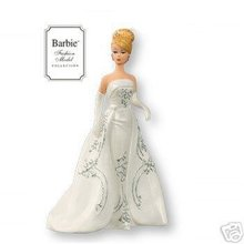 2007 Hallmark Porcelain JOYEUX BARBIE Club Exclusive Christmas ORNAMENT