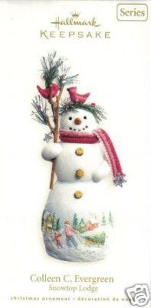 2007 Hallmark COLLEEN C. EVERGREEN~Porcelain Christmas Ornament~#3 Snowtop Lodge Series