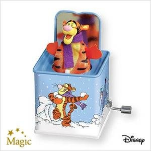 2007 Hallmark POP! GOES THE TIGGER~Jack in the Box~ Christmas Ornament~Motion and Sound
