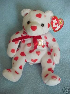 Ty Valentine HEARTTHROB Bear~Beanie Baby of the Month~Feb-2004