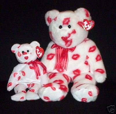 Ty Valentine SMOOCH Beanie Baby BEAR~ Plush