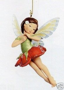 2007 Hallmark ROSE FAIRY Christmas Ornament~Fairy Messengers #3