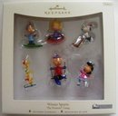 2007 Hallmark WINTER SPORTS~6 Peanuts Gang Christmas Ornaments