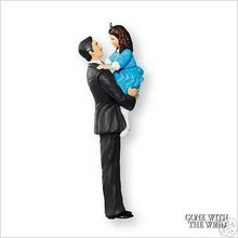 2007 Hallmark RHETT BUTLER and BONNIE BLUE~Gone with the Wind Christmas Ornament