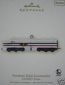 2007 Hallmark Lionel FREEDOM TRAIN LOCOMATIVE Christmas Ornament~12th