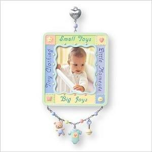 2007 Hallmark BABY'S FIRST CHRISTMAS PHOTO HOLDER Ornament