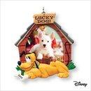 2007 Hallmark LUCKY DOG Christmas Ornament~Photo Holder or Magnet~Disney's PLUTO