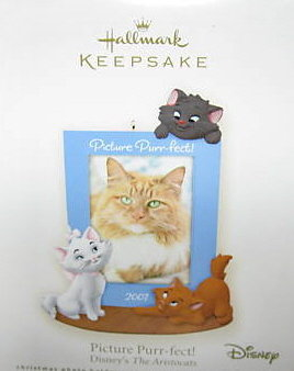 2007 Hallmark PICTURE PURR-FECT! Christmas Ornament~Phoro Holder or Magnet~Disney's Aristocats