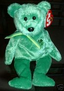TY DUBLIN Beanie Baby Bear~NEW Irish St Patrick~March 16