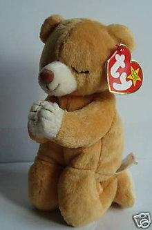 Ty  HOPE~Praying Beanie Baby Bear~Mint w/ Mint tags