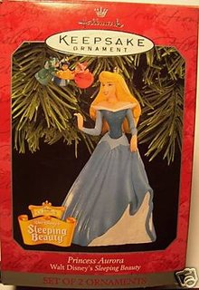 1998 Hallmark SLEEPING BEAUTY~PRINCESS AURORA~Disney~set of 2
