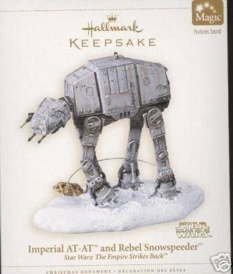 2006 Hallmark Star Wars IMPERIAL AT-AT AND REBEL SNOWSPEEDER ~Sound~ Christmas Ornament