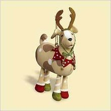 New 2006 Hallmark A PLAYFUL PUP Christmas Dog Ornament