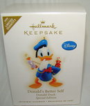 2009 Hallmark DONALD'S BETTER SELF ~Disney Christmas Ornament~Limited