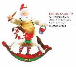 2009 Hallmark TOYMAKER SANTA ~Christmas Ornament~Limited Ed