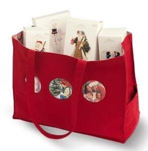 2009 Hallmark Keepsake Canvas TOTE w/ 3 photo Holders