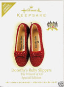 NEW! 2009 Hallmark DOROTHY'S RUBY SLIPPERS~Wizard of Oz~Special Ed ~Christmas Ornament~