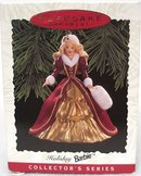 1996 Hallmark HOLIDAY BARBIE #4~ Christmas Ornament