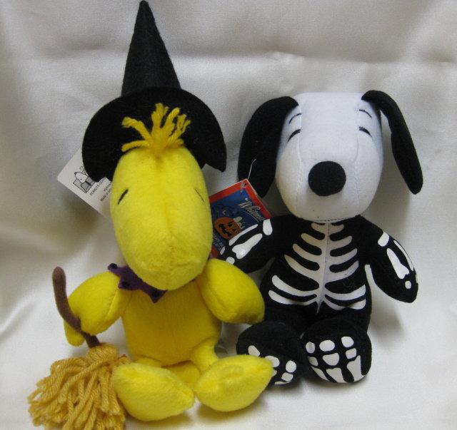 2 HALLOWEEN Peanuts Plush~SNOOPY & WOODSTOCK~New w/ Tags