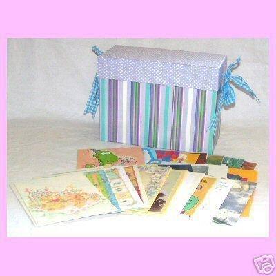 Greeting Card Organizer Box w/ Inserts, Drawer & Cards~like Hallmark