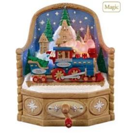 2009 Hallmark MAGIC EXPRESS Train~Sound & Movement~Christmas Ornament