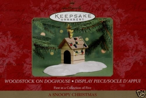 WOODSTOCK ON DOGHOUSE~A Snoopy Christmas Ornament