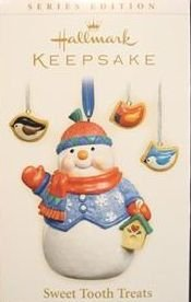 2006 Hallmark SWEET TOOTH TREATS ~set of 4 Christmas Ornaments~5th