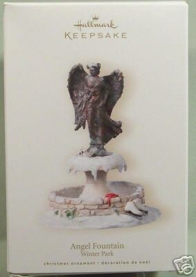 2007 Hallmark ANGEL FOUNTAIN ~Christmas Ornament~
