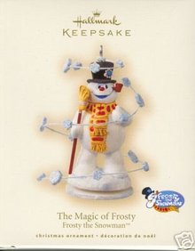 2007 Hallmark THE MAGIC OF FROSTY  the Snowman~Christmas Ornament~