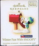 2007 Hallmark WINTER FUN WITH SNOOPY ~Peanuts Christmas Ornament~